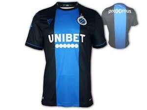 Macron FC Brügge Home Shirt blau Club Brugge Fan Jersey Fußball Trikot Belgien