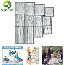 Baking DECORATION crème 3d people shaped Cake figure Mold Family set Human