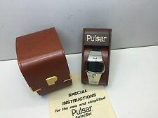1975 Pulsar Greenie - Collector's dream LED Digital Time Computer Watch  uhr MOT
