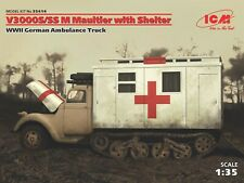 ICM 35414 WWII German Ambulance V3000S7SS M Maultier w/Shelter in 1:35