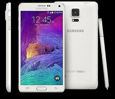 "5.7"" samsung galaxy note 4 n910t 32gb 3gb ram free white mobile phone white"