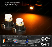 LED SMD T3 8mm Neo Wedge 39397 SA5003 Yellow Amber Dash Speedometer Light Bulbs