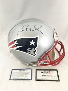 NEW ENGLAND PATRIOTS TOM BRADY signed AUTHENTIC FULL SIZE HELMET TRISTAR STEINER
