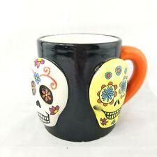 3D Skulls XLarge Mug Day of the Dead Dia de Muertos Halloween Mug Cup Coffee Tea