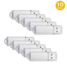 32GB 10Pack USB 2.0 Memory Stick Flash-drive Thumb Metal Data Storage Pen Silver