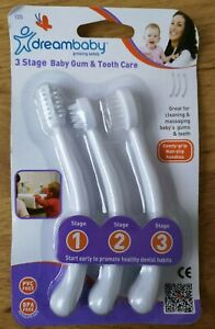 dreambaby 3 Stage Baby Gum & Tooth Care TOOTHBRUSH SET PVC Free BPA Free