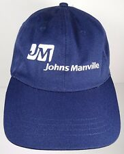 JM JOHNS MANVILLE INSULATION ROOFING MATERIALS DENVER COLORADO ADVERTISING HAT
