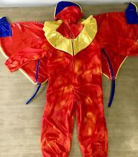 DISNEY ALADDIN JAFAR LAGO RED PARROT BIRD PLUSH JUMPSUIT COSTUME BOYS XXS 2T