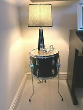 More details for up-cycled quirky drum table cool retro furniture with storage free p&p