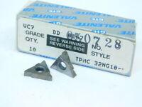 NEW SURPLUS 10PCS. VALENITE  TPMC  32NG10  GRADE: VC7  CARBIDE INSERTS