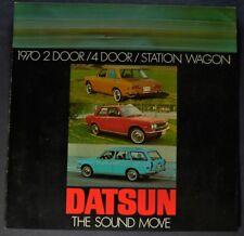 1970 Datsun Sales Brochure Folder Sedan, Wagon Excellent Original 70
