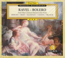 RAVEL-BOLERO - Classical Masterworks w/ Debussy/Bizet/Chopin (3 CDs) NEW/SEALED