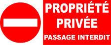 Interdit propriété privée passage interdit