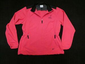 Nike Golf Dri-Fit women's pink/black long-sleeved 1/4-zip pullover windbreaker M