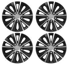 """4 x Wheel Trims Hub Caps 15"""" Covers fits Peugeot 106 107 108 206 207 208"""