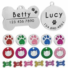 Engraved Dog Tag Personalized Pet Cat ID Tags Anti-lost Kitten Puppy Tag Collars