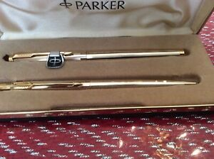 New Old Stock Set Parker 75 Nib 14k