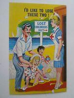 Retro Vintage Comic Postcard LOST CHILDREN HUMOUR Lost Children's Hut