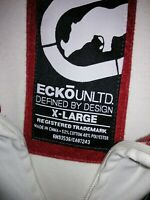Marc Ecko Untld White/Red/Navy/Sky Blue Track Jacket XL Used