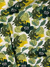5 Metres Green Retro Leaf Leaves Printed 100% Cotton Poplin Fabric