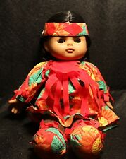 """Vintage > Old 11"""" DOLL South American Girl With Open / Close EYES DOLL Nice Gift"""