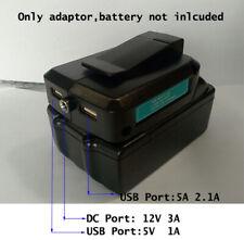 DIY For MAKITA 14.4V/18V li-ion battery adaptor to Power  DC 12V 3A Dual USB 5V
