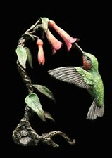 Hummingbird Hand Painted Foundry Cast Bronze Sculpture by Keith Sherwin [1081]