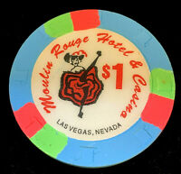 Moulin Rouge Hotel & Casino $1.00 Casino Blackjack, Craps, Pai Gow, Chip