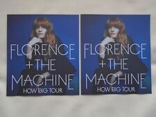 "FLORENCE + THE MACHINE Live in Concert ""How Big"" Tour UK 2015 Promo flyers x 2"