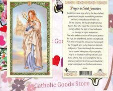 St Genevieve with Prayer to St Genevieve - Paperstock Holy Card