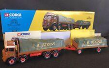 CORGI CLASSICS 27601 F.B. ATKINS ATKINSON 8 WHEEL TRUCK & TRAILER w/ LOADS 1:50