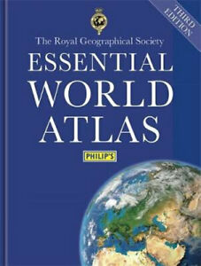 NEW Philip's Essential World Atlas By Maps Philip's Hardcover Free Shipping