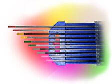 5 x 2 tungstène électrodes rainbow set 1,0 x 175 wig AC/DC soudage tungstène aiguilles