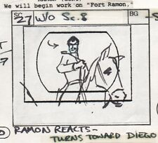 Zorro 1981 Production Storyboard hand drawing animation art Filmation Ep. 9 p4 a