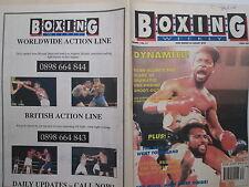 Boxing Weekly Magazine 28 Aug 1990 Benn Barkley  Nelson Ali Blocker Sterling