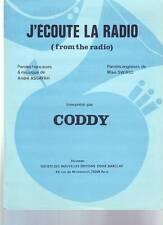 partition CODDY j'ecoute la radio