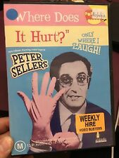 Where Does It Hurt ex-rental region 4 DVD (1972 Peter Sellers comedy movie) RARE