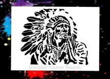 Indian Chief 02 Airbrush Stencil,Template