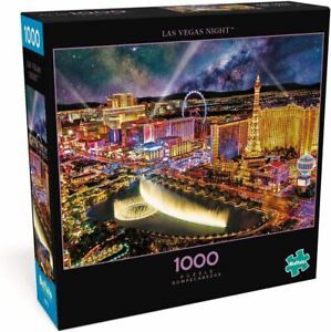 1000 Piece Las Vegas Night City Lights Vivid Jigsaw Puzzle