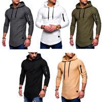 Mens Hoodie Jacket Pullover Hooded Jumper Tops Long Sleeve Hoodies Sweatshirt