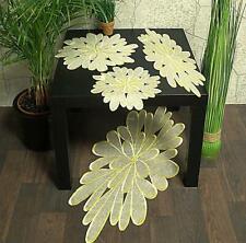 Hossner Ellwangen Gelb Tischdecke Tischläufer Deckchen Organza Blüten Bestickt