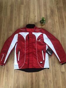 NWT SCOTT Motosports Tri-Phase Flake TP Red/White Snowmobile Jacket Mens SIZE SM