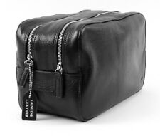 Margo München Luxury Toiletry Bag for Men Leather Black Large Quality
