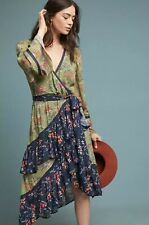 NEW Anthropologie Love Sam Williston Wrap Dress Size Small Patchwork Floral