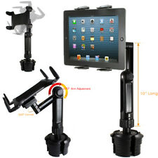 LONG ARM Car Cup Holder Mount FOR APPLE iPad AIR PRO 12.9 SURFACE TABLET