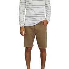 Men's Afends Stock Plain Cut Off Denim Shorts Dust