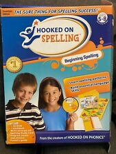 Hooked on Spelling Age 5-8 1st 2nd Grade Unused Yellow Workbook Cd-Rom Poster