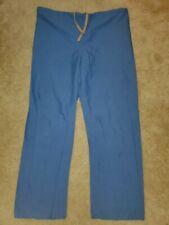 Women's Blue Drawstring Scrub Pants Size Medium