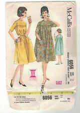 Vintage 50s 60s Robe House Day Dress McCalls 6056 Pattern Sewing DIY