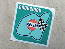 Gulf Goodwood racing circuit sticker 75 mm  - Gulf Licensed Merchandise